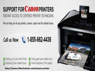 1-855-662-4436 Canon printer tech support number