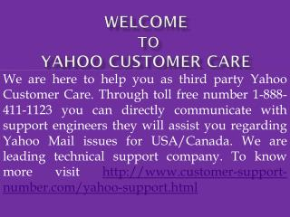 Yahoo Customer 1-888-411-1123 Support Number