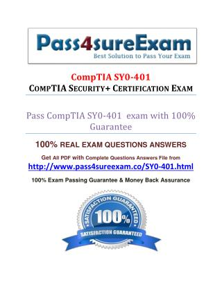 Pass4sure SY0-401 Practice Exam