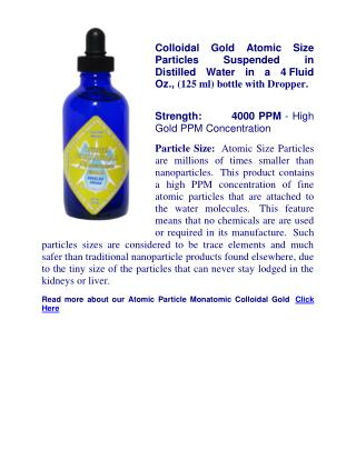 Colloidal Silver Dosage
