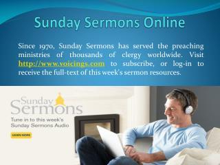 Sunday Sermons Online