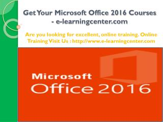 Get Your Microsoft Office 2016 Courses
