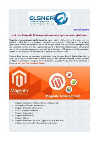 Just how Magento Development overcome open resource platforms