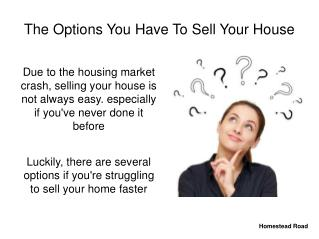 The Options You Have To Sell Your House Fast