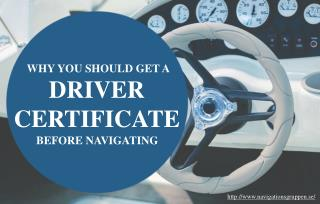 Reasons to get a boat driver's certificate