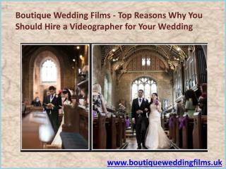 Wedding Videographer in Uk