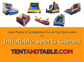 Inflatable Sports Games - A Perfect for Kids Fun Party