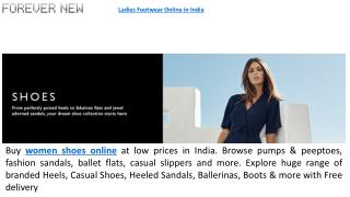 Women Shoes Online in India