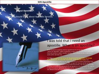 United States Apostille