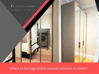 Where to buy high quality bespoke furniture in London?