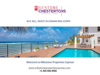 How A Professional Real Estate Company In Cayman Can Benefit You!..