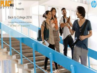 HP Laptops Back to College Offer 2016 - Placewellretail.com