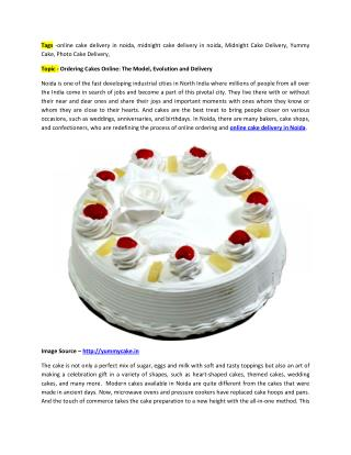 Ordering customized cake online in Noida