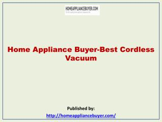 Home Appliance Buyer