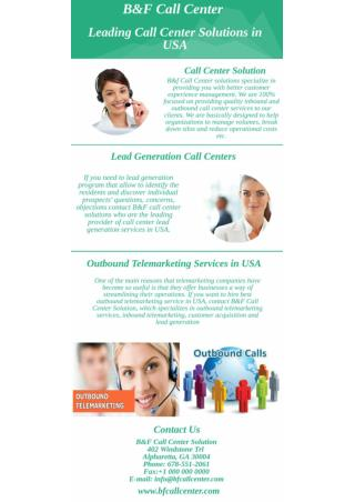 Leading Call Center Solutions in USA