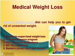 Get away your unwanted weight with medical Weight loss