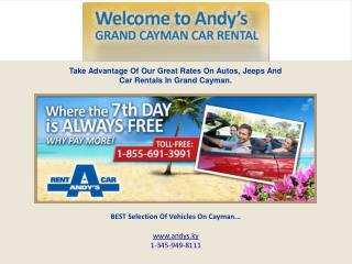 How Travelers can enjoy Car Rental Services in the Cayman Islands.
