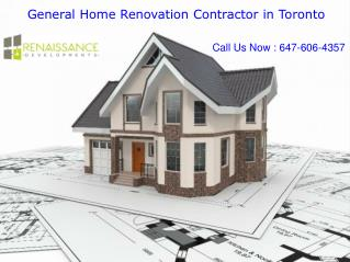Experienced and Reliable Contractors in Toronto