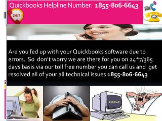 (^^ *)1855-806-6643  QuickBooks Technical support Number USA