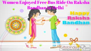 Women enjoyed free bus ride on Raksha Bandhan in Delhi