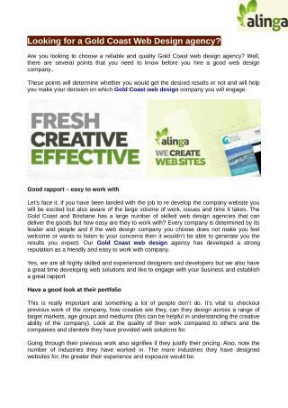 Best Web design Agencies at Gold Coast