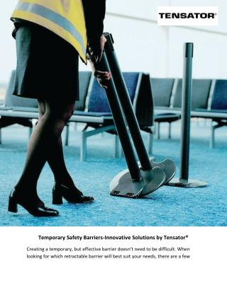 Temporary Safety Barriers-Innovative Solutions by Tensator®