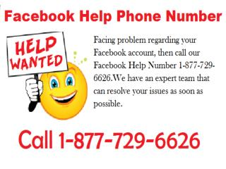 Recover your account with Facebook Helpline 1-877-729-6626