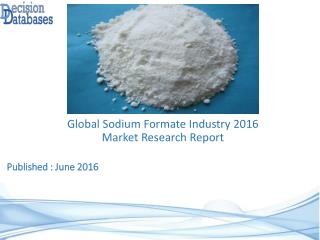 Sodium Formate Market Report -Worldwide Industry Analysis