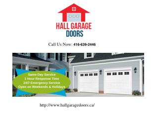 Repair Garage Door Services in Toronto – Hall Garage Doors
