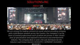 solution inc power amplifiers