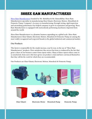 Shree Ram Manufacturers | Atta Maker Manufacturer in Ahmedabad
