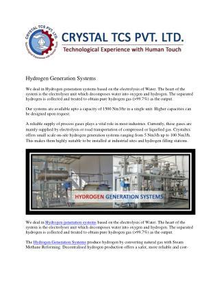 Hydrogen Generation System