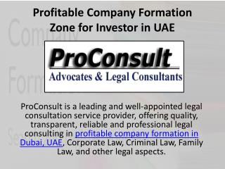 Profitable Company Formation Zone for Investor in UAE