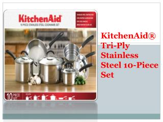 KitchenAid® Stainless Steel Cookware Set