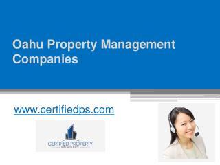 Oahu Property Management Companies - www.certifiedps.com
