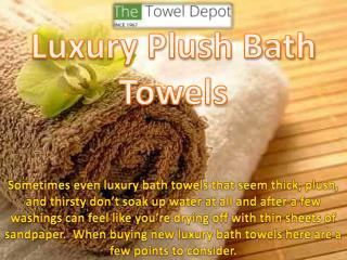 Luxury Plush Bath Towels