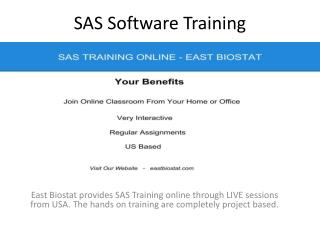 SAS Software Training