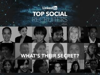 Linkedin top social recruiters