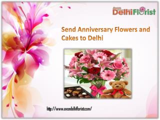 Send Anniversary Flowers and Cakes to Delhi