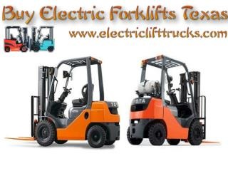 Buy Electric Forklifts Texas
