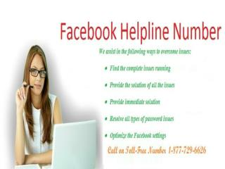 Tackle your facebook issue with Contact Facebook Helpline Number 1-877-729-6626