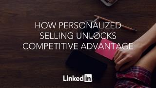 How Personalised Selling Unlocks Competitive Advantage