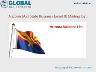 Arizona State Business Email & Mailing List
