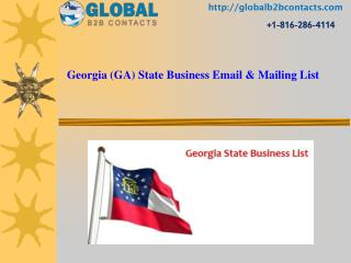 Georgia State Business Email & Mailing List