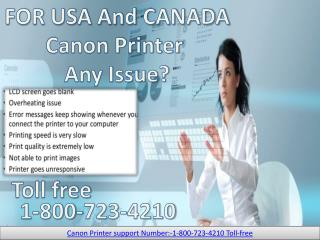 Canon Printer Tech Support 1 800-723-4210