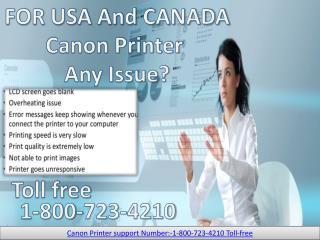 Canon Printer Tech Support 1 800-723-4210