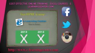 Online Training – Excel Courses - e-learningcenter.com