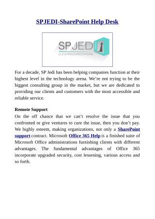 SPJEDI-SharePoint Help Desk