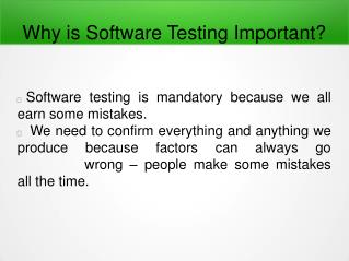 Why is Software Testing Important?