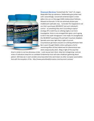Neurocet Reviews